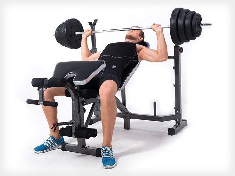 Home gym exercise fitness multi station weight bench trade me