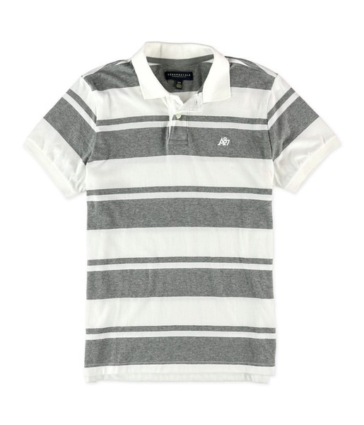 a29bfde62 Aeropostale Mens A87 Striped Rugby Polo Shirt