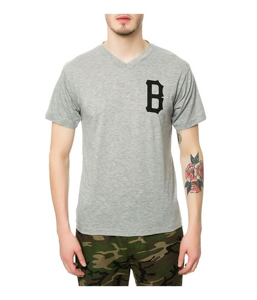 58d3133e1e67 Black Scale Mens The B Logo V-Neck Graphic T-Shirt | Trade Me