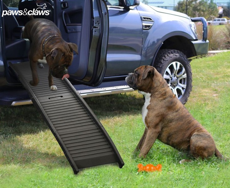 Paws Claws Folding Dog Car Ramp In Black Steps Ramps Trade Me