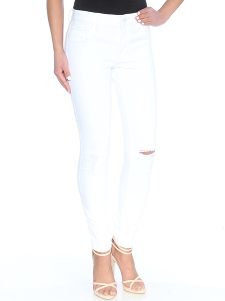 83ca70a0a0f24 DL1961 Womens White Frayed Distressed Skinny Jeans | Trade Me