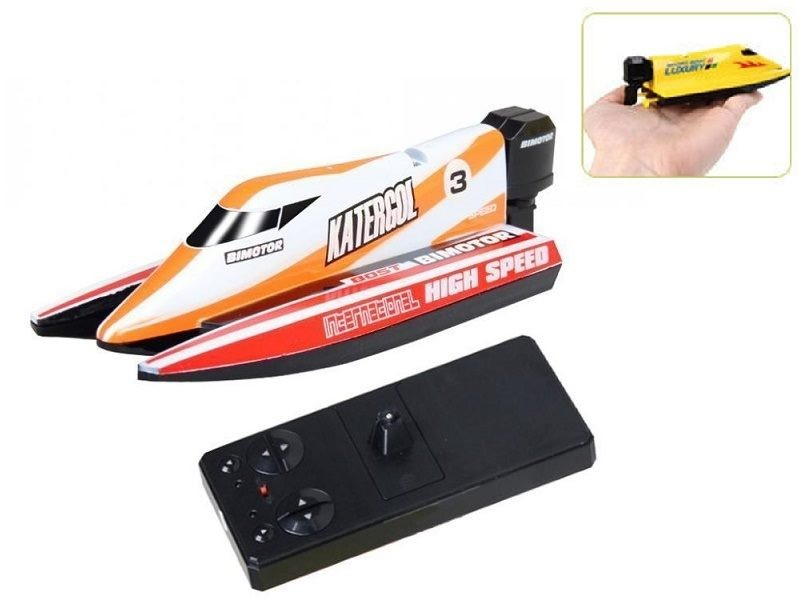 TOY SALE - Small Size Remote Control Racing Boat - YELLOW