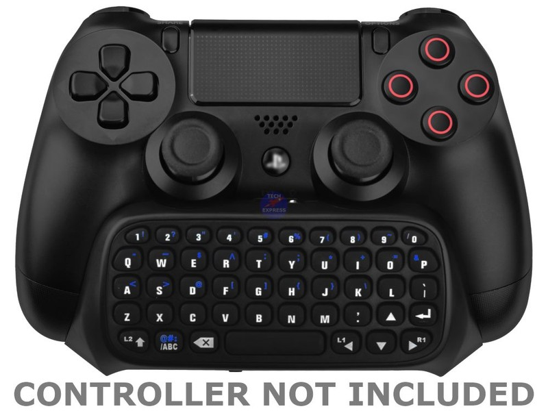 Wireless Bluetooth Qwerty Message Keyboard for PS4 Playstation 4 Game  Controller