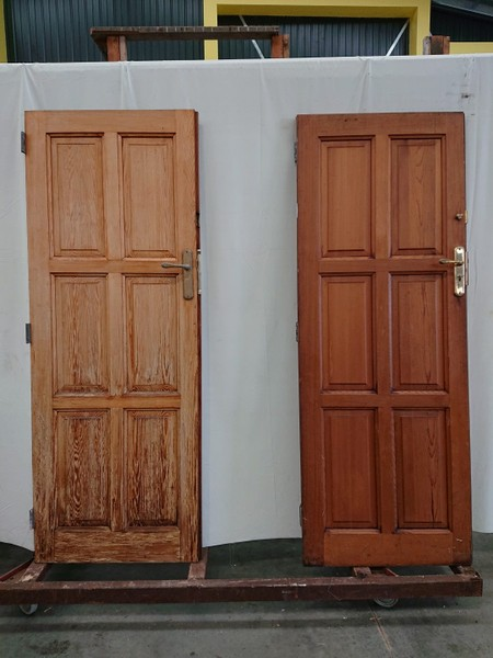 Wooden Pair Of Cedar Exterior Doors H2040xw760 Dr2125 Trade Me