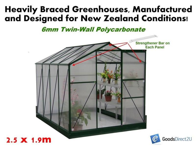 GREENHOUSE Polycarbonate 1 9M (FRNT) x 2 5M - 6mm