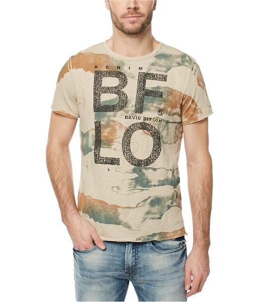 22a210df Buffalo David Bitton Mens Camo Graphic T-Shirt