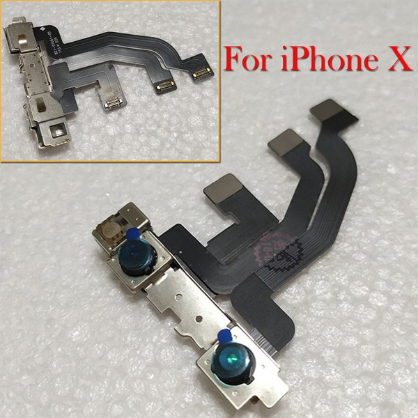 new style 2d55b 27025 For iPhone X Front Camera With Proximity Sensor & Microphone Replacement