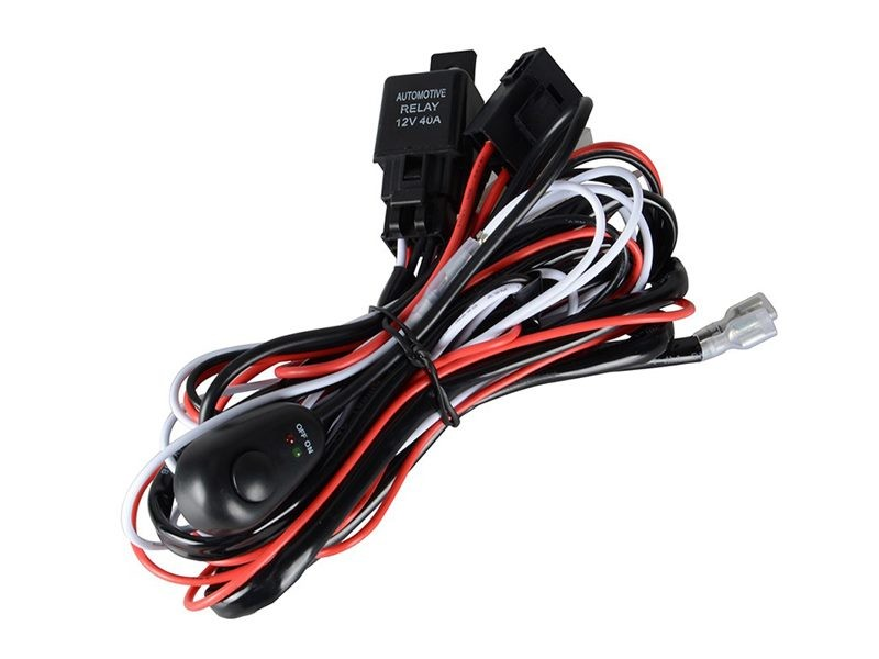 40a 12v switch relay wiring harness kit led spotlight fog light click to enlarge photo