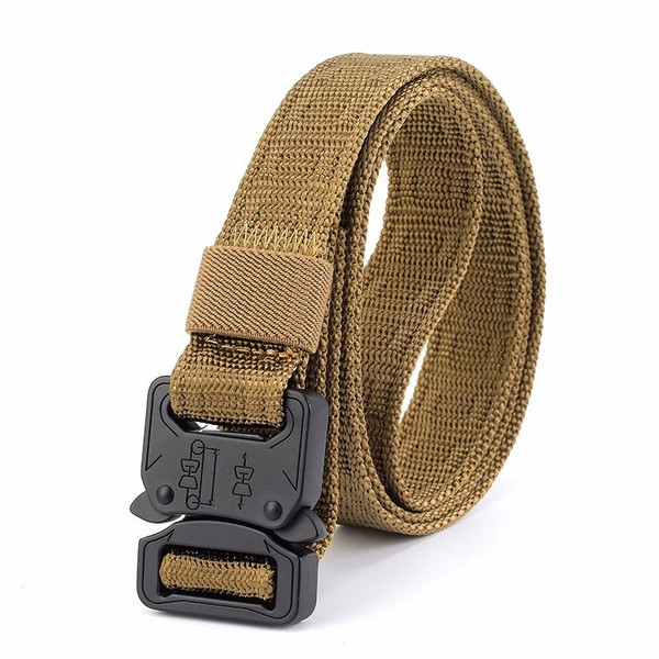 2.5CM Men Canvas Belts Alloy Buckle Outdoor Tactical Military Training  Waistband  838fb91f56e