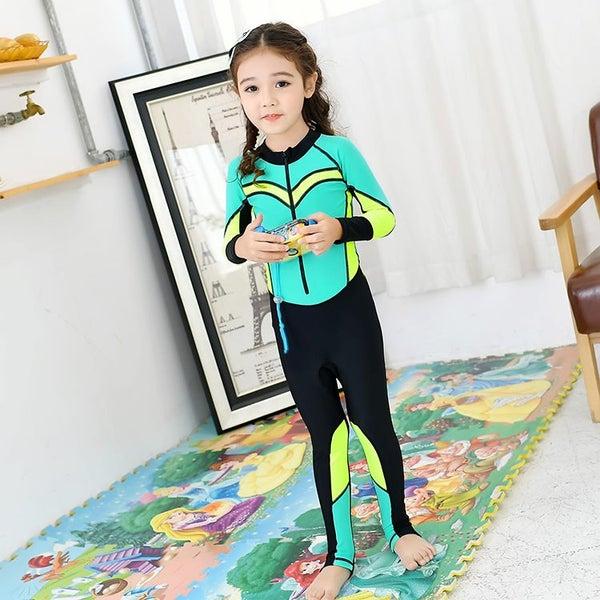 1081f9c05 Children Girls Swimwear Kid Diving Snorkeling Suit Beachwear Rash Guard  Swimsuit | Trade Me
