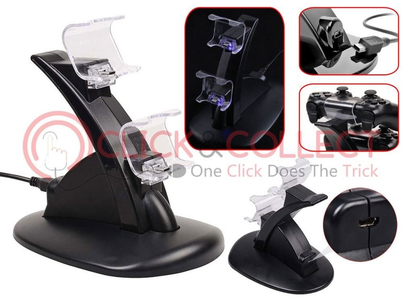 PS4 Wireless Controller Charger Charging Stand