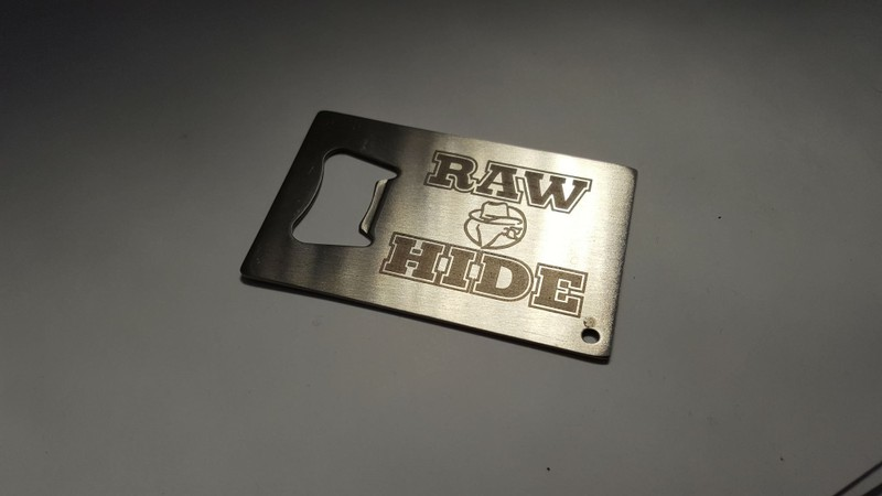 Laser engraved bottle opener stainless steel