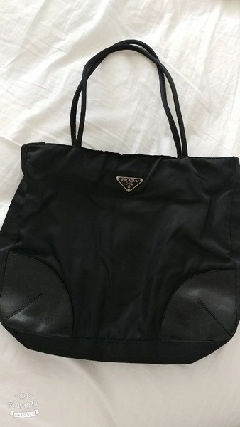 d38d5df6e7 Authentic Prada Black Nylon Tote Hand Bag