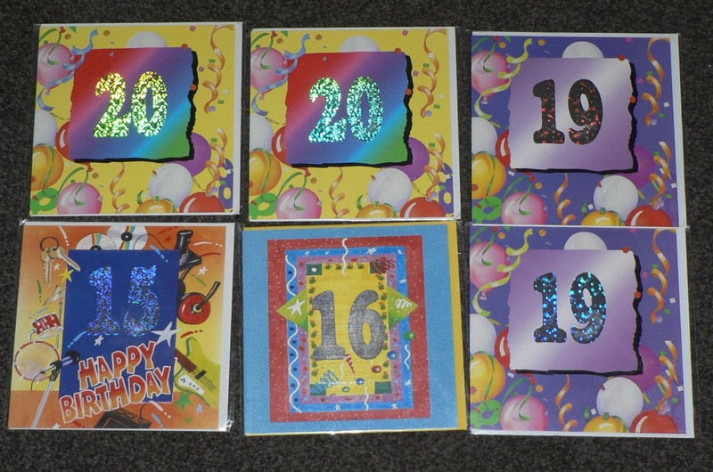 Bulk Birthday Cards With Envelopes Numbers On X 6