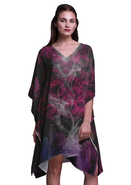 Phagun Rose   Skull Beach Kaftan Bikini Cover up Women Midi Dress ... 6334d6ce8f4