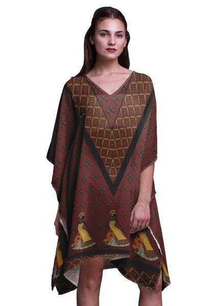 f05a81360c05 Phagun Tribal African Ladies Plus Size Kaftan Summer Wear Coverup Kimono  Kaftan