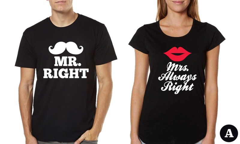 2cd15166a8 COUPLE T-SHIRTS - MR. & MRS. MATCHING TEES | Trade Me