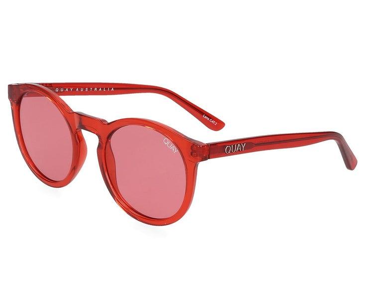 5bd85af087dfb Quay Australia Women s Kosha Comeback Sunglasses Red Red Womens ...