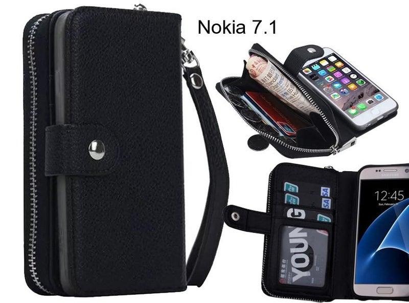 low priced 8289e 58de8 Nokia 7.1 Case coin wallet case full wallet leather case