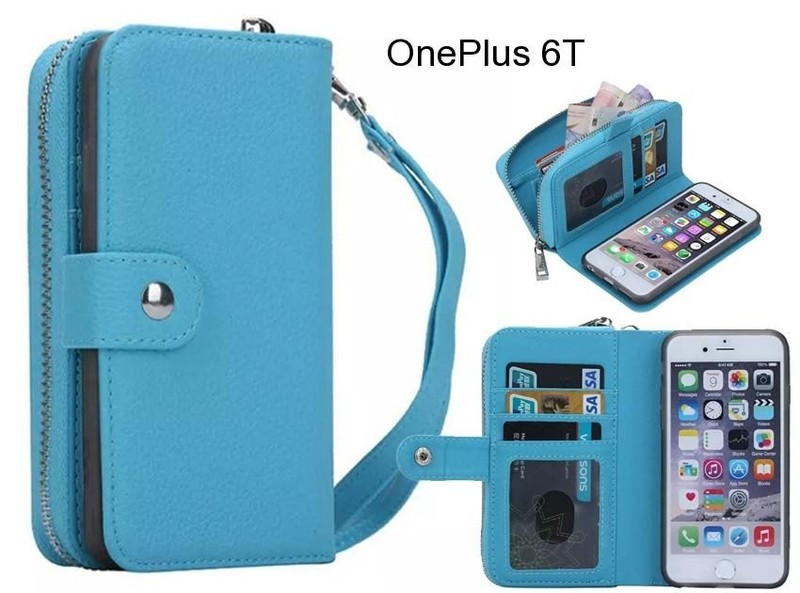 OnePlus 6T Case coin wallet case full wallet leather case