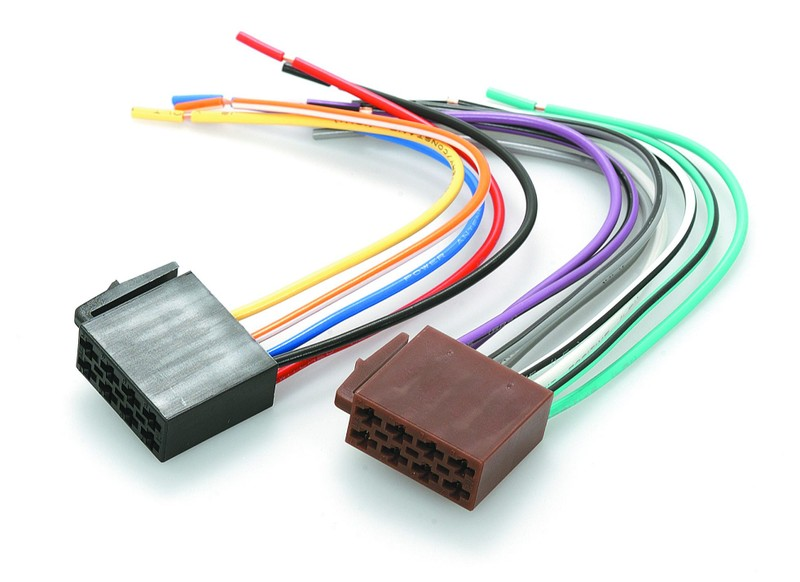 ISO TO BARE ENDS WIRING HARNESS PLUG LEAD WIRE LOOM ... Head Unit Specific Wiring Harness on