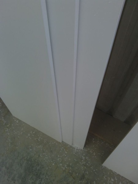 1 length of 400mm White Melamine 1mm PVC edging,