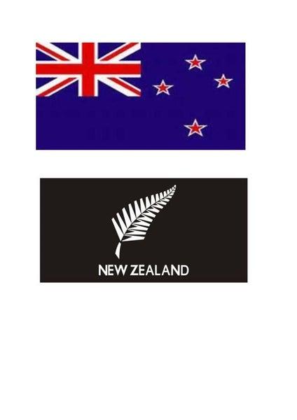 NZ Flag or Silver fern Flag New Zealand flag - High Quality 130gsm Fabric