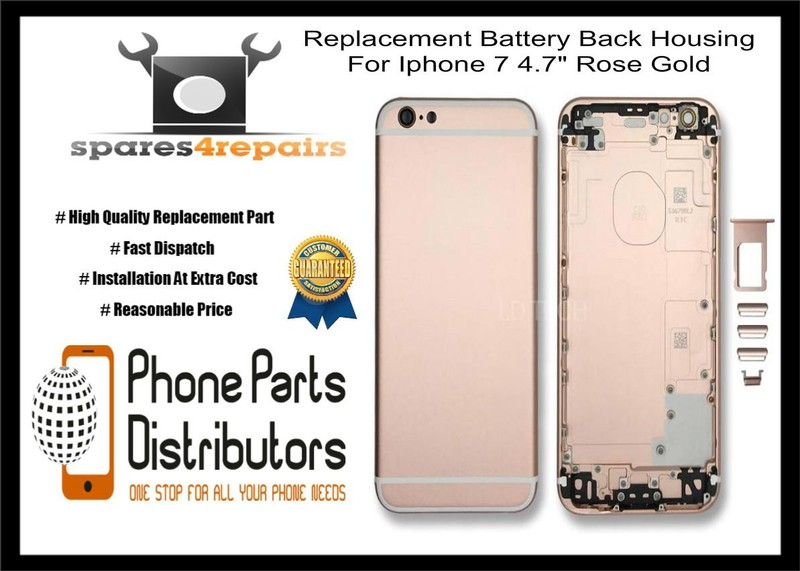 Replacement Battery Back Housing For Iphone 7 47 Rose Gold