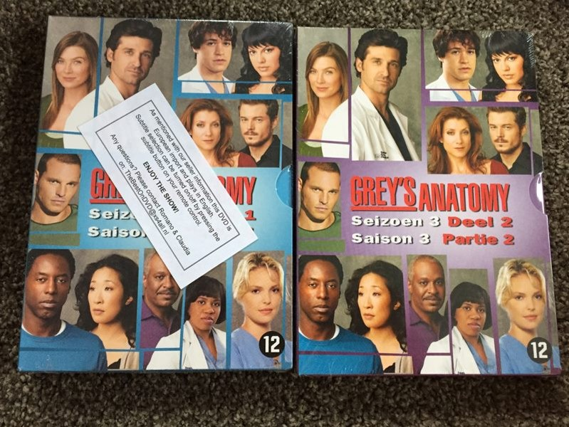 Greys Anatomy Complete Third Series Trade Me