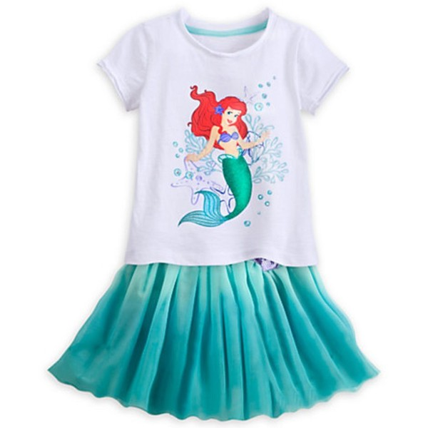 9fad94a6d15 Disney Ariel Top and Skirt Set for Girls