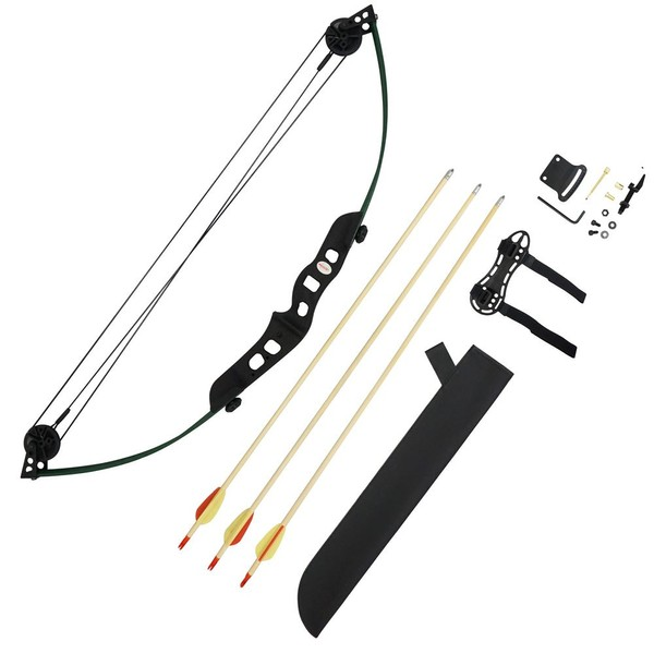Youth Compound Bow Arrows & Quiver Package Set Jr