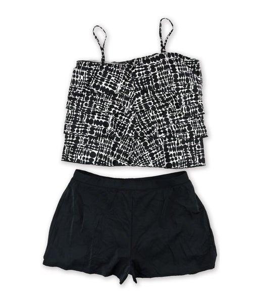 d88dae9c4ac1d Caribbean Joe Womens Tiered Circle Skirt 2 Piece Tankini   Trade Me