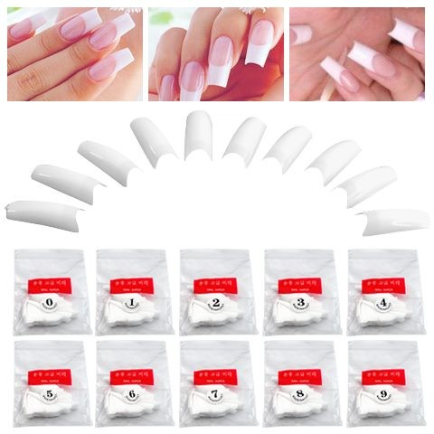 Alert 500 Acrylic False Nails With Glue Health & Beauty