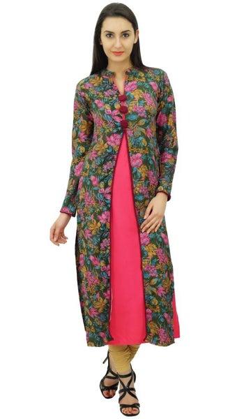 e4fc5d8ea3d0 Bimba Women s Dress Straight Kurtae Floral Print Winter Tunic Indian ...