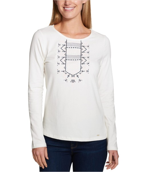 468637a9 Tommy Hilfiger Womens Embroidered Basic T-Shirt | Trade Me