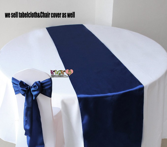 Navy Blue Table Runners Photos Table And Pillow