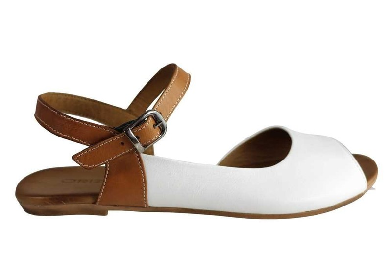 0aaa41d8191cc NEW Orizonte Gossip Womens European Soft Leather Comfortable Flat Sandals 8  A...