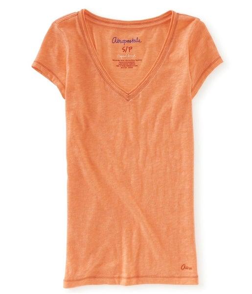 29dd2eb1ff6 Aeropostale Womens Solid Color V-neck Basic T-Shirt   Trade Me