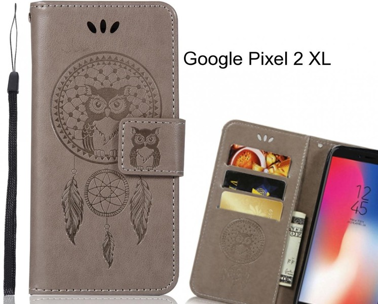 sale retailer 62717 5f862 Google Pixel 2 XL Case Embossed leather wallet case owl
