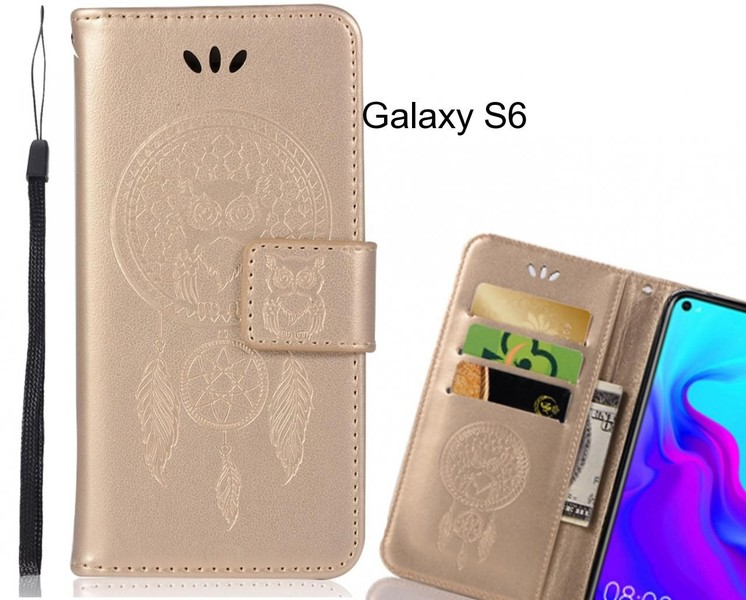 super popular 69158 13e11 Galaxy S6 Case Embossed leather wallet case owl