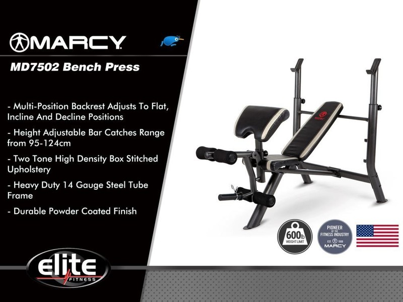 Bench press marcy® md7502 trade me