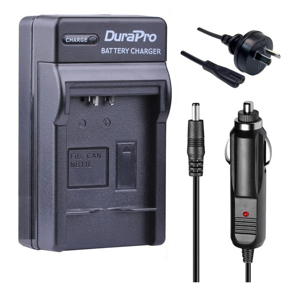 Durapro Car and Wall Charger for Canon NB-11L