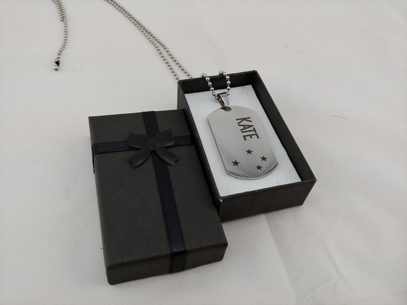 Stainless Steel Necklace In Gift Box Personalised