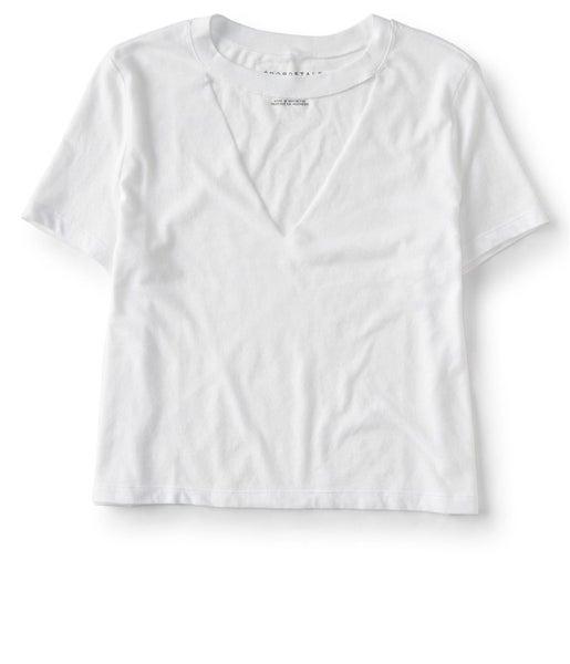 b47d2ddd Aeropostale Womens Crop Choker Basic T-Shirt | Trade Me