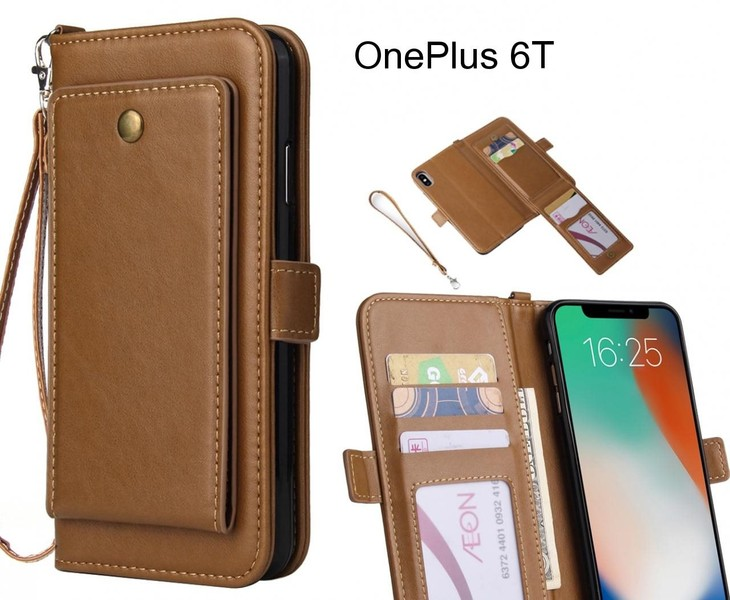 info for 716b6 d9075 OnePlus 6T Case Retro Leather Wallet Case