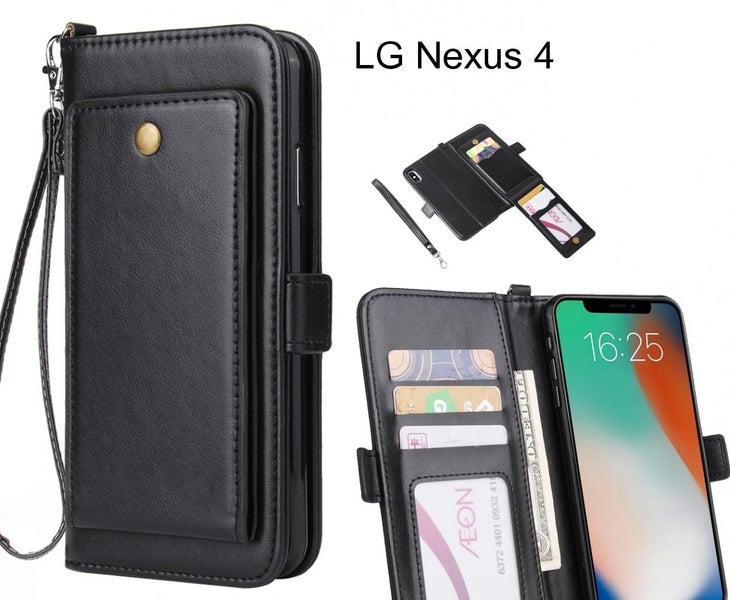 watch 0eb96 a72bf LG Nexus 4 Case Retro Leather Wallet Case