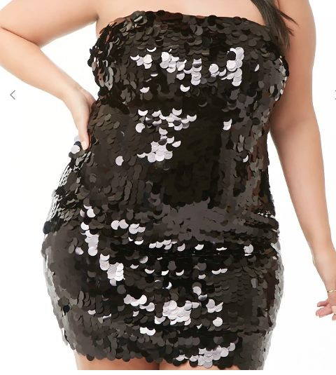 39d495d93db4 Plus Size Sequin Tube Dress - BLACK or PINK | Trade Me