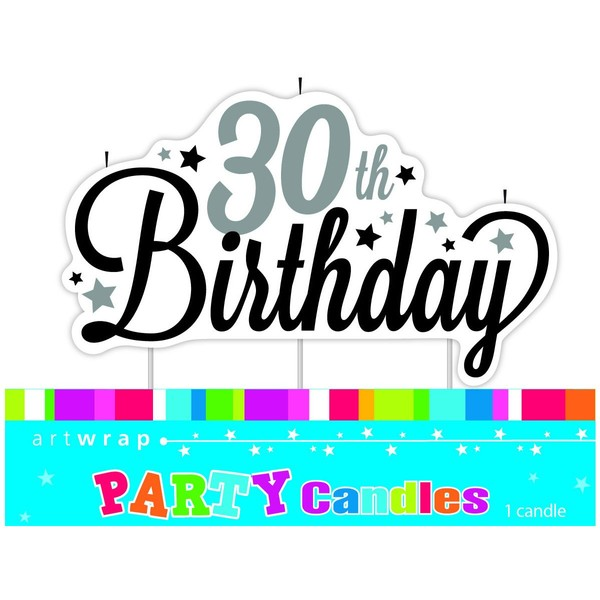 Stylish 30th Birthday Feature Candle