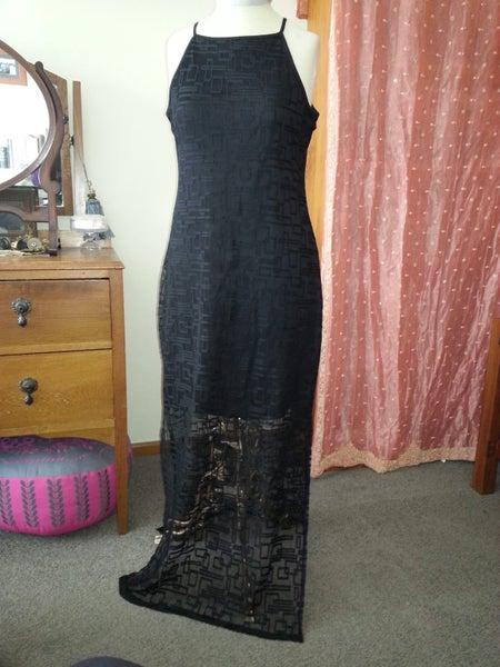 a5dd6c32ae2 Pagani size14 black long lace dress