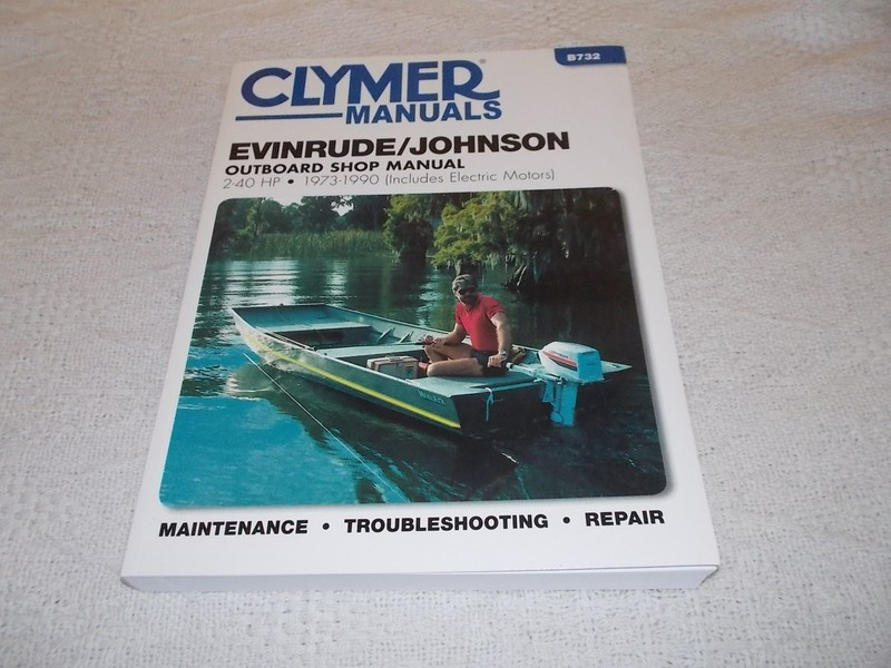 Evinrude Johnson Outboard Manual 2 40 HP 1973 1990 Clymer